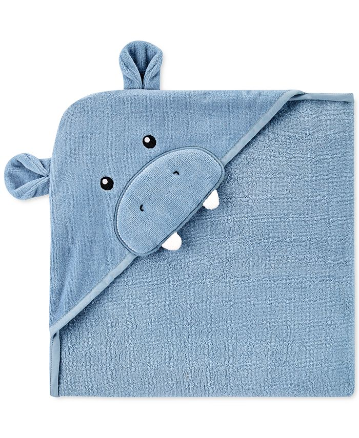 Carter's - Baby Boys Hooded Cotton Hippo Towel
