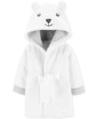 Baby Boy or Girl Hooded Cotton Bear Bathrobe