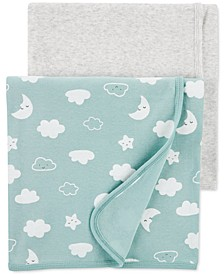 Baby 2-Pk. Clouds Cotton Receiving Blankets