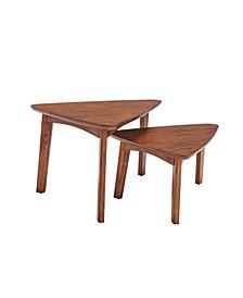 Monterey Triangular Set of 2 Mid-Century Modern Nesting Tables