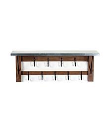 Millwork Double Row Hook Shelf