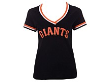 Women's San Francisco Giants Contrast Binding T-Shirt