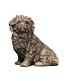 Fluffy Dog Garden Statue