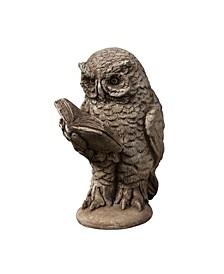 Scholarly Owl Garden Statue