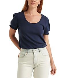 Pointelle Scoop-Neck T-Shirt