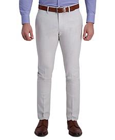 Men's Gabardine Skinny/Extra-Slim Fit Performance Stretch Flat-Front Dress Pants