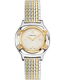 Women's Swiss Medusa Frame Two-Tone Stainless Steel Bracelet Watch 36mm