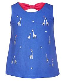 Baby Girls Giraffe Bow Back Top, Created for Macy's
