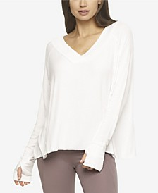 Essentials Modal Rib V-Neck Top