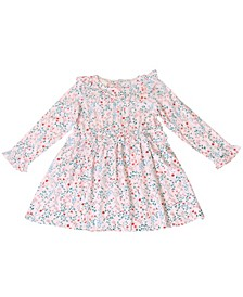 Toddler Girls Long Sleeve Floral Ruffle Dress