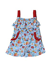Toddler Girls Hibiscus Romper