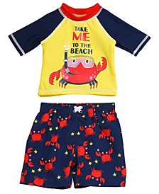 Toddler Boys 2 Piece Rash Guard Set