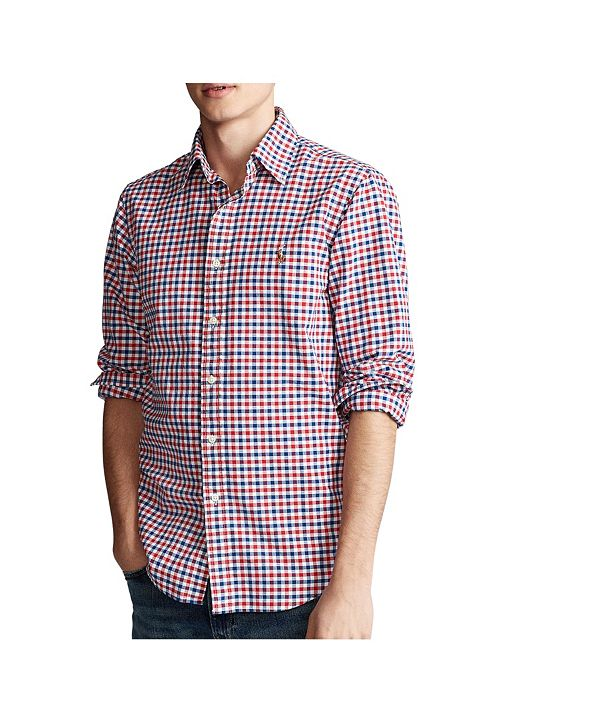 Polo Ralph Lauren Men's Classic-Fit Checked Oxford Shirt