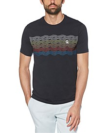 Men's Tie Dye Stripe Short Sleeve T-Shirt