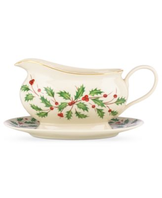 Holiday Gravy Boat With Stand