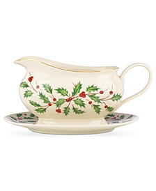 Holiday Gravy Boat & Stand