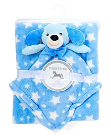 Plush Stars Baby Blanket with Security Blanket Toy