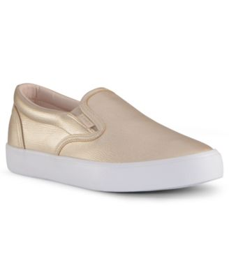 Gold Slip-On Women's Sneakers and