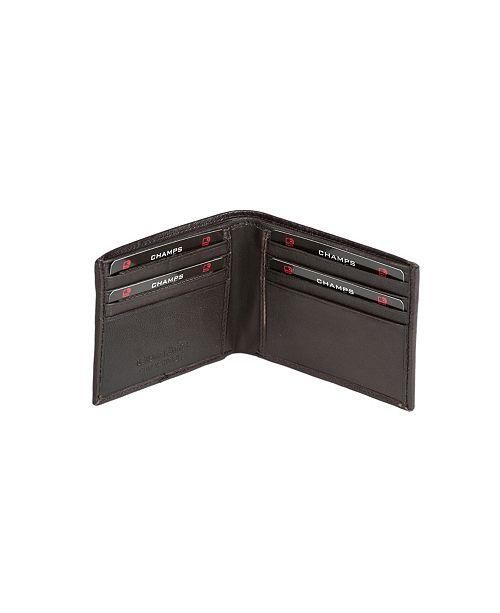 CHAMPS Genuine Leather RFID Blocking Bi-Fold Wallet