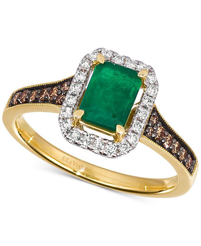 Le Vian - Costa Smeralda Emerald (5/8 ct. t.w.) & Diamond (1/3 ct. t.w.) Ring in 14k Gold