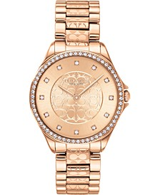 Women's Astor Rose Gold-Tone Stainless Steel Bracelet Watch 31mm