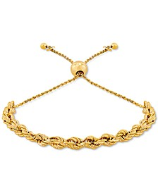 Rope Chain Bolo Bracelet in 18k Gold-Plated Sterling Silver, Created for Macy's