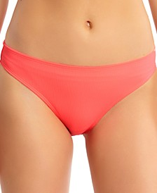 Juniors' Ribbed Hipster Bikini Bottoms, Created for Macy's