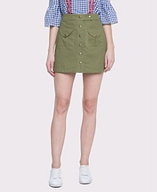 Gold Button Detailed Skirt