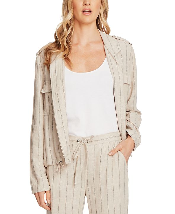 Vince Camuto Striped Drawstring Jacket