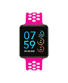 Women's Air SE Black Case with Fuchsia and White Perforated Strap 35mm - A Special Edition