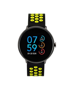Men's Sport Black Case with Black and Lime Perforated Strap 43mm