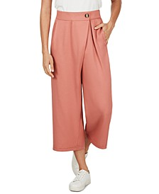 Wrap-Waist Cropped Pants