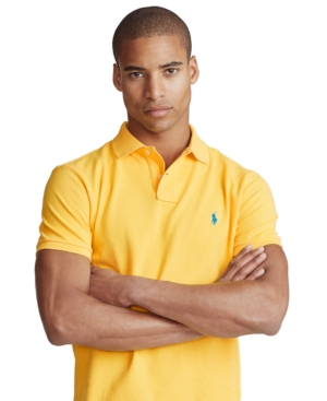 POLO RALPH LAUREN MEN'S CUSTOM SLIM FIT MESH POLO