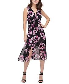 Sleeveless V-Neck Wrap Dress