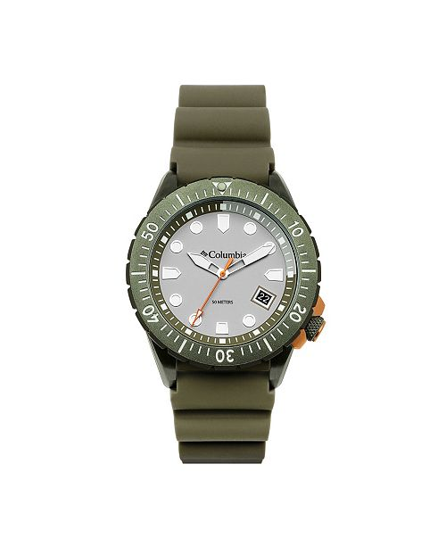 Columbia Men's Pacific Outlander Olive Silicone Watch 45mm