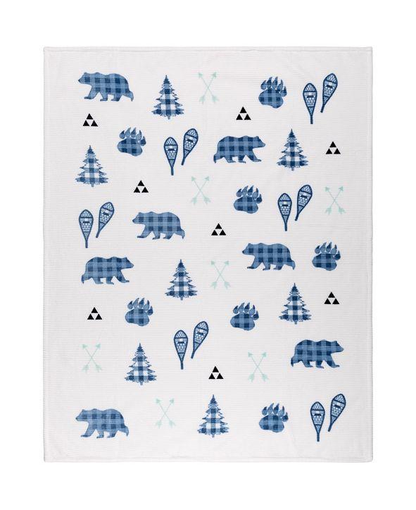 Safdie & Co Inc Printed Ribbed Flannel Throws