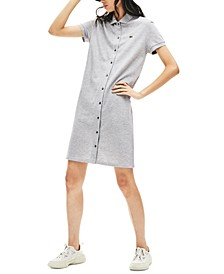 Cotton Short-Sleeve Shirtdress