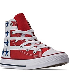 Little Boys Chuck Taylor Stars And Stripes High Top Casual Sneakers from Finish Line