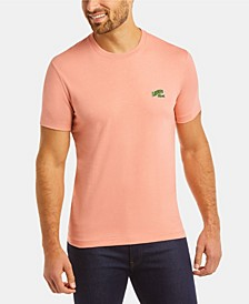 Men's Regular Fit Short Sleeve T-Shirt with Embroidered Lacoste Logo
