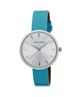 Women's Case Blue Polyurethane Strap Watch 36mm