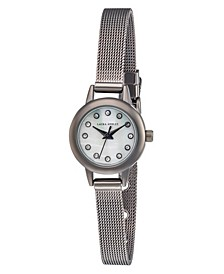 Women's Mini Case Silver Tone Alloy Bracelet Watch 22mm
