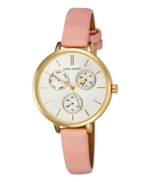 Women's Chrono Dial Pink Polyurethane Strap Watch 36mm