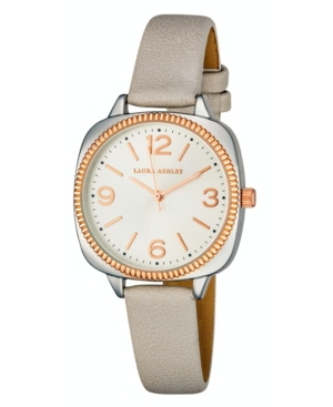 Women's Cushion Case Sunray Dial Gray Polyurethane Strap Watch 35mm