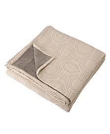 Full Queen Cotton Diamond Pattern Quilt