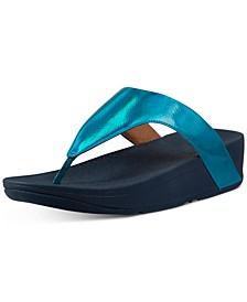 Lottie Iridescent Scale Thong Sandals