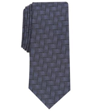 Alfani Men's Abstract Crosshatch Slim Tie, Created for Macy's