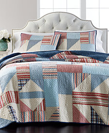 Martha Stewart Collection Americana Patchwork Quilt and Sham Collection, Created for Macy's