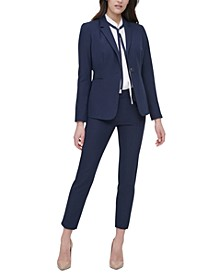 Flex Fit Blazer, Tie-Neck Blouse & Flex Fit Pant