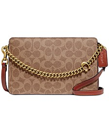 Coated Canvas Signature Chain Crossbody