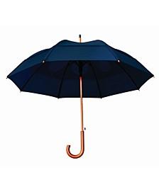 Wind Resistant Auto Open J-Shaped Handle Umbrella